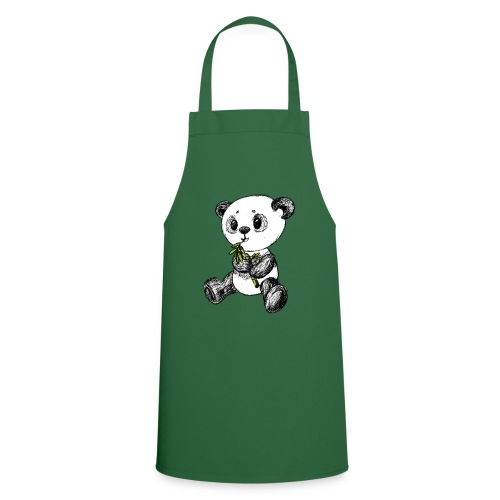 Panda Karhu värillinen scribblesirii - Esiliina
