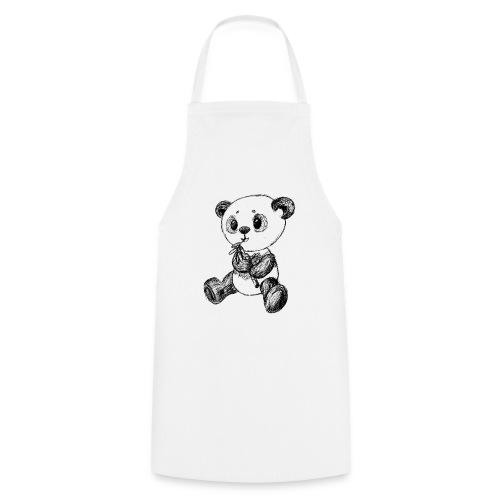 Panda bjørn sort scribblesirii - Forklæde