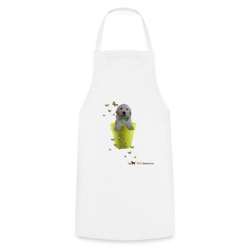 Cucciolo Golden Retriever in-vaso dalle farfalle - Grembiule da cucina