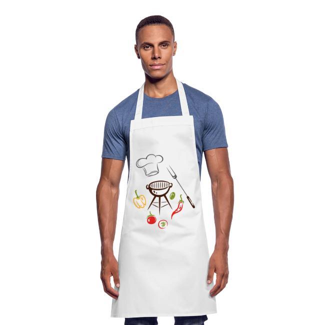 Chefkoch Koch Tomaten Schürze Grillschürze Kochschürze