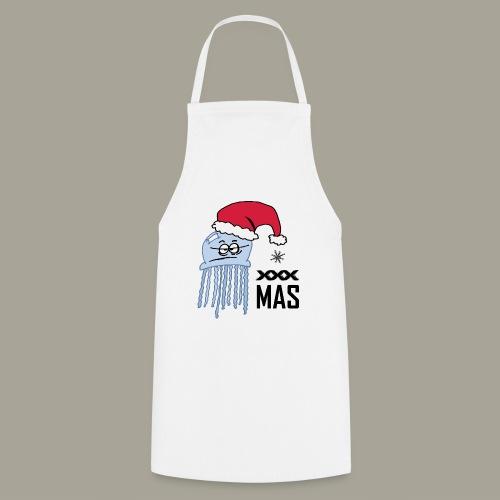 Qualle mit Weihnachtsmütze X MAS - Kochschürze