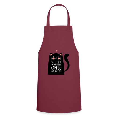 Gute Tage starten mit Kaffee und Katze - Kochschürze