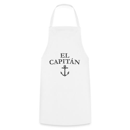 El Capitan Anker (Vintage Schwarz) Kapitän Käpt'n - Kochschürze