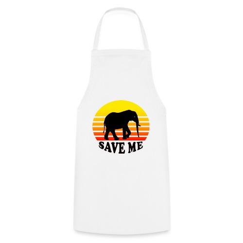 Elefant SAVE ME Schattenriss Sonne - Kochschürze