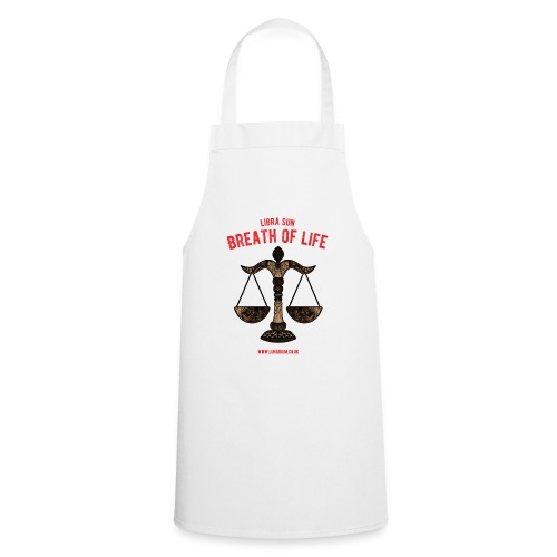 Libra Sun Women's T-shirt with rolled up sleeves - Cooking Apron
