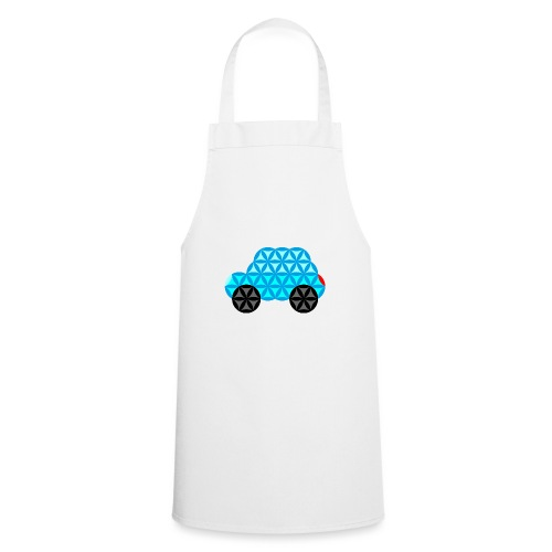 The Car Of Life - 01, Sacred Shapes, L/Blue. - Cooking Apron