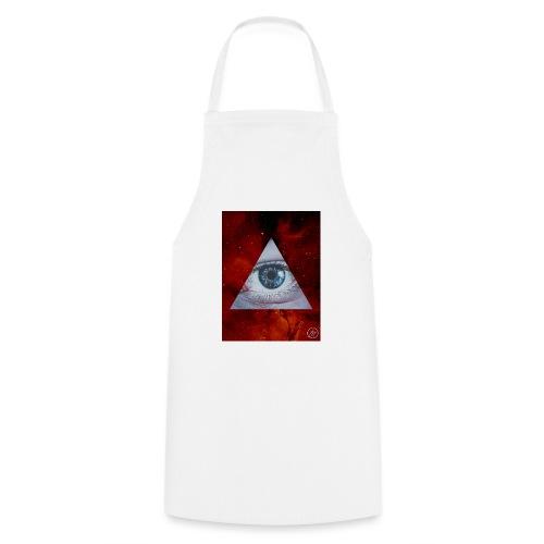 Blue Eyes Red Nebula - Cooking Apron