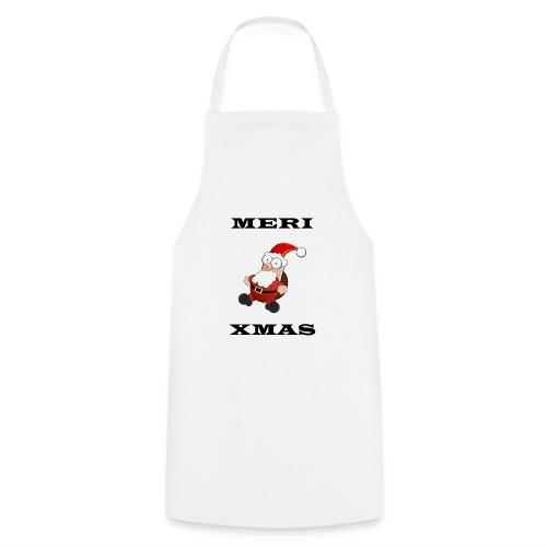 Frohe Weinachten Weihnachtsmann Schwarz - Kochschürze