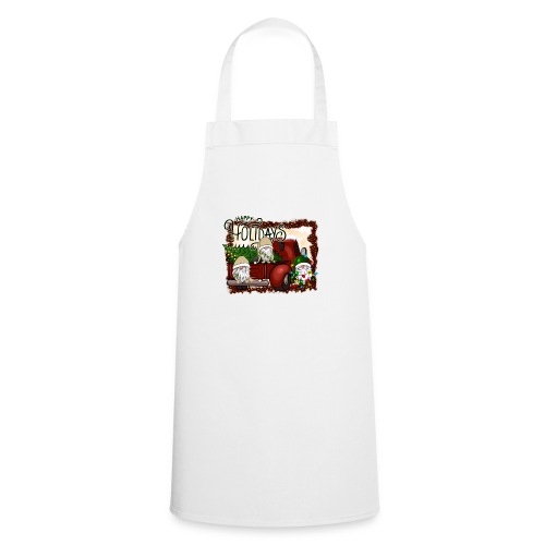 happy holidays gnomes Christmas Truck - Cooking Apron
