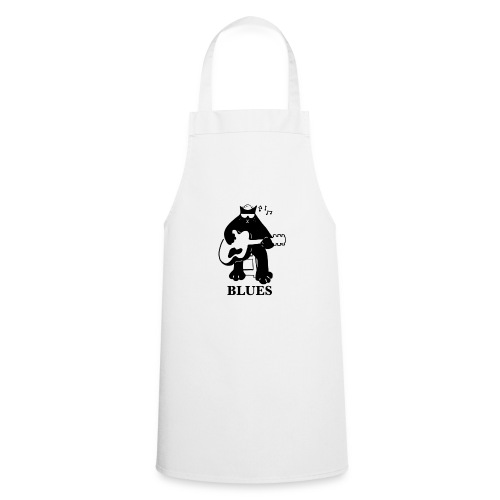 Blues Music Cat Guitar - Cooking Apron