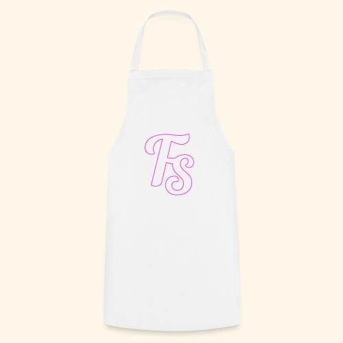 fs logo met een roze out line - Keukenschort