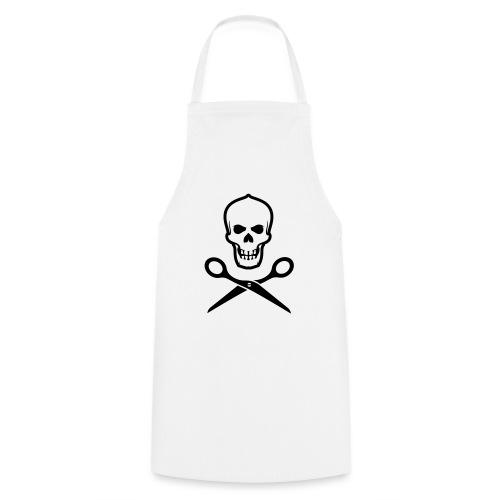 Totenkopf mit Schere - Kochschürze