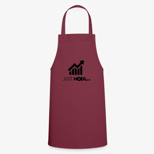 HODL-btc-just-black - Cooking Apron