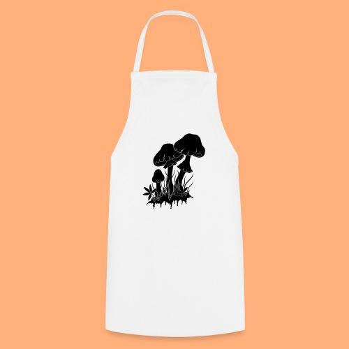 champignons noir et blanc - Tablier de cuisine