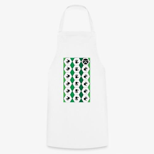 |K·CLOTHES| HEXAGON ESSENCE GREENS & WHITE - Delantal de cocina