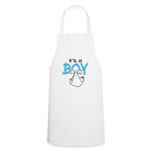 Babyshower Boy Blauw - Keukenschort