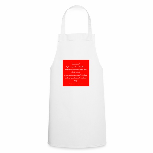 Travel not by the way with a bold fellow - Cooking Apron