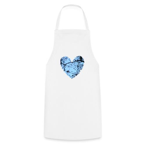hart met boom takken en blauwe lucht, love t-shirt - Keukenschort