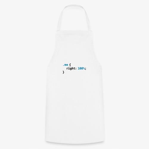 Funny geek - CSS Right 100% Programmer Nerd Tech - Cooking Apron