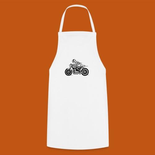 Cafe Racer Motorrad 05_schwarz - Kochschürze