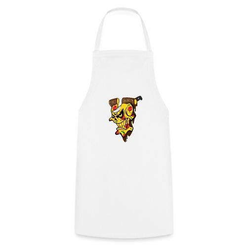 Pizza Schädel mit Messer - Kochschürze