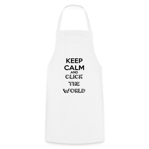 BORSA TESSUTO KEEP CALM AND CLICK THE WORLD - Grembiule da cucina