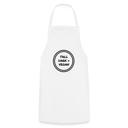 Tall Dark & Vegan Black Logo - Cooking Apron