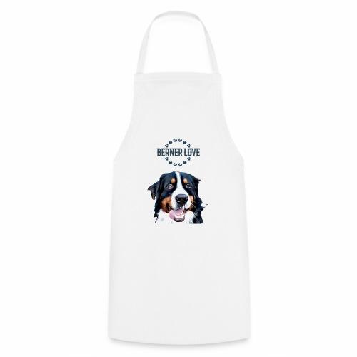 Berner Sennenhund T-Shirt Hundekopf - Kochschürze
