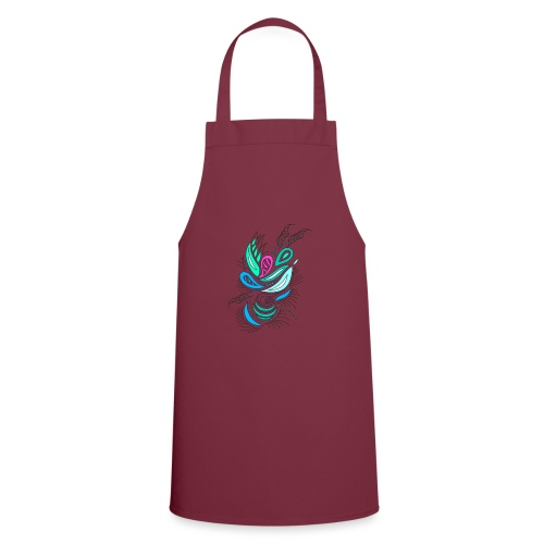 astratto foglie multicolore - Grembiule da cucina