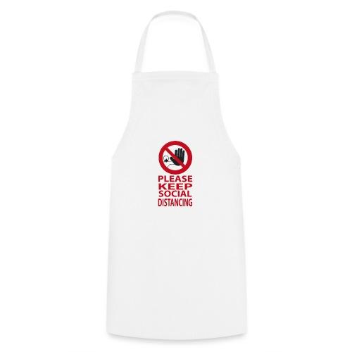 PLEASE KEEP SOCIAL DISTANCING - Grembiule da cucina