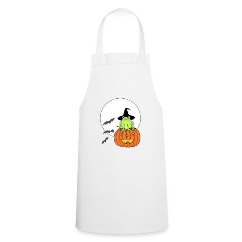 frog on pumpkin - Cooking Apron