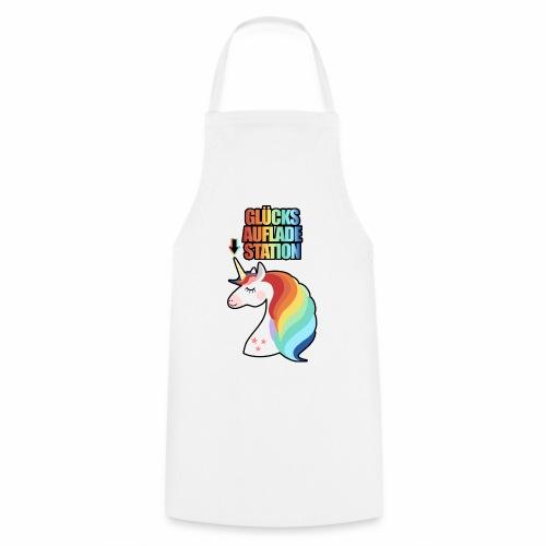 Glücksaufladestation Glück Einhorn Regenbogen Fun - Kochschürze
