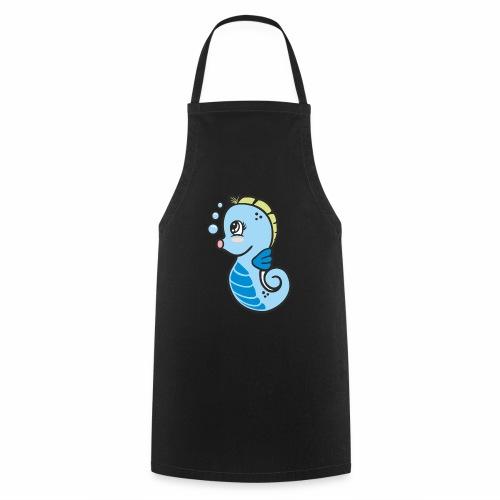 Seepferdchen blau - Kochschürze