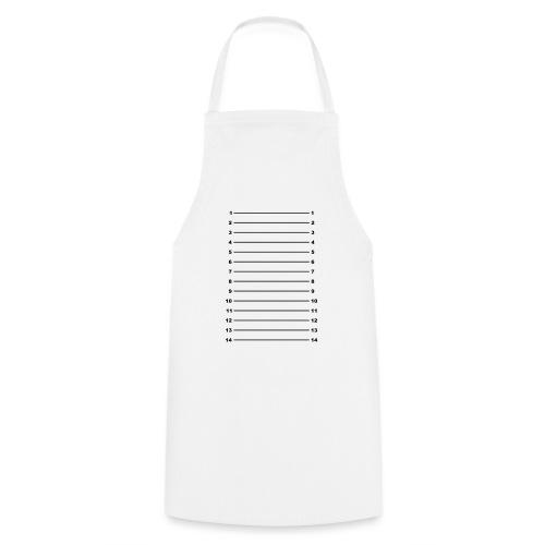 Length Check T-Shirt Plain - Cooking Apron