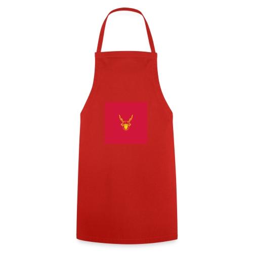 scimmiacervo sfondo rosso - Grembiule da cucina