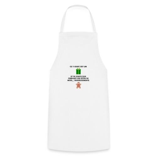 T-shirt cadeau de Noël - Tablier de cuisine