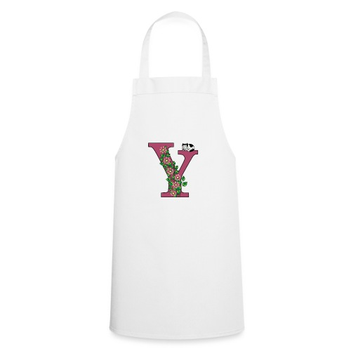 Letter Y with cat and flowers - Cooking Apron