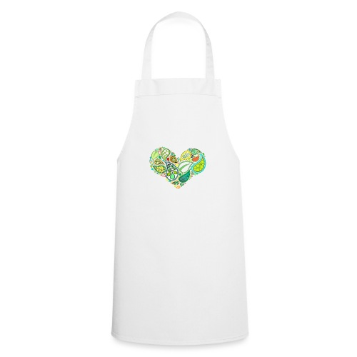 Green Leaf Heart Mandala - Cooking Apron