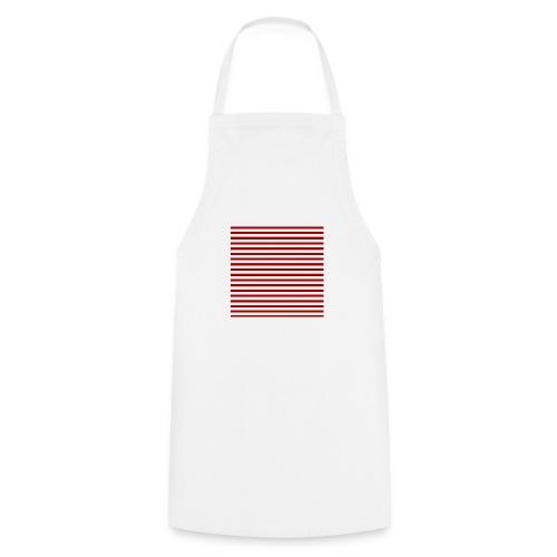 lineas_rojas - Delantal de cocina