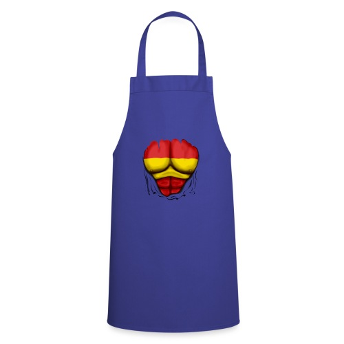 España Flag Ripped Muscles six pack chest t-shirt - Cooking Apron