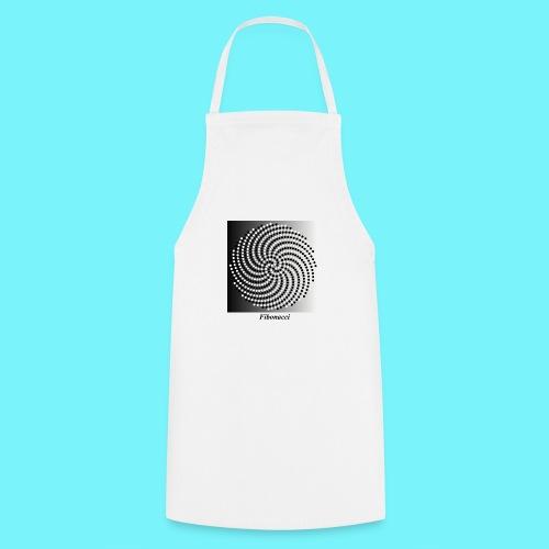 Fibonacci spiral pattern in black and white - Cooking Apron