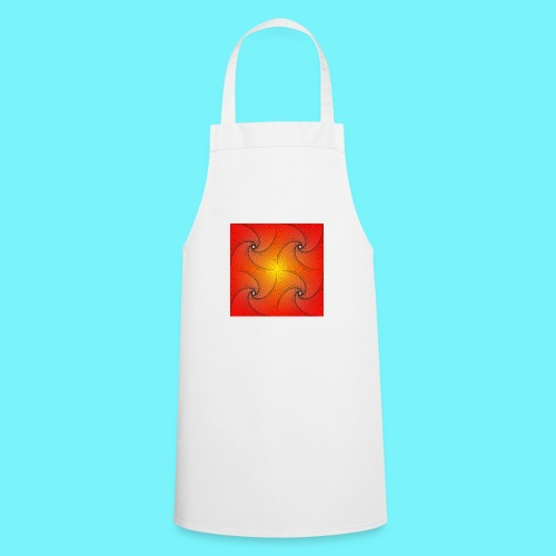 Pursuit curve in red and yellow - Cooking Apron