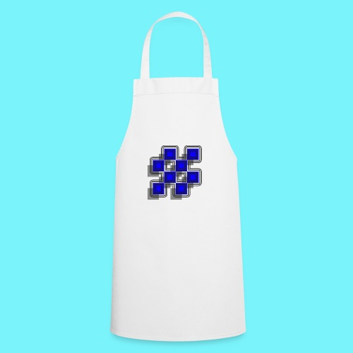 Blue Blocks with shadows and perimeters - Cooking Apron