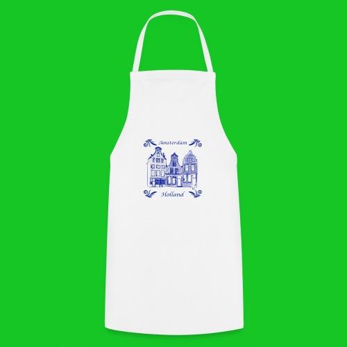 Holland Grachtenpanden Delfts Blauw - Keukenschort