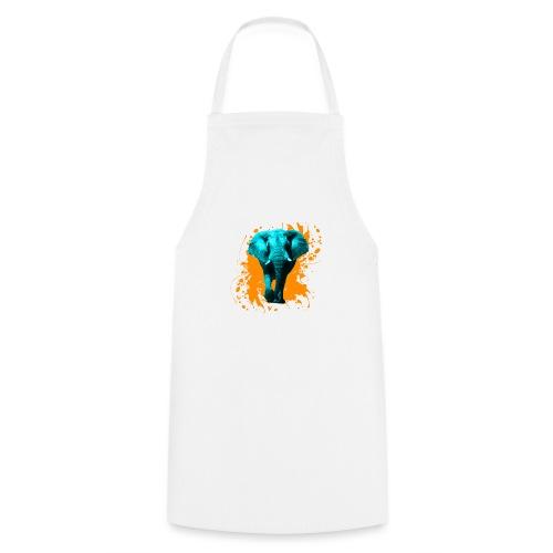 Elefant in Türkis - Kochschürze