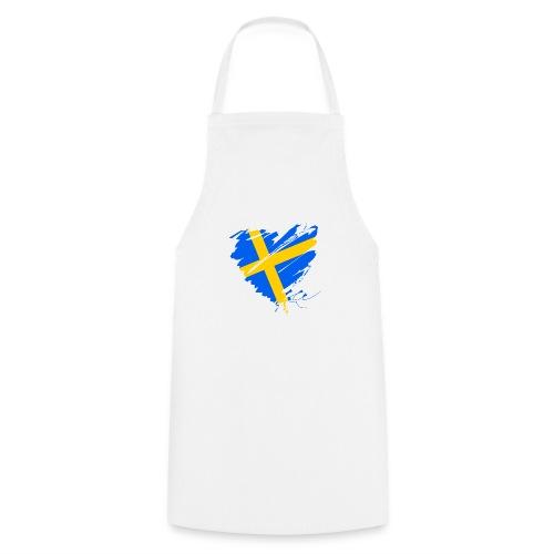 Schweden Skandinavien Europa Fahne Grunge Herz - Cooking Apron