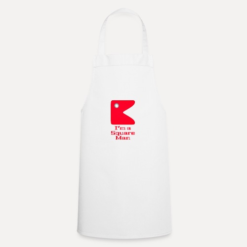 Square man red - Cooking Apron