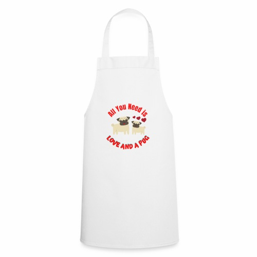 Typography Quotes Pug Lovers T shirt - Cooking Apron