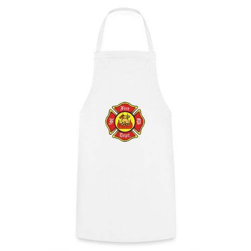 Feuerwehrschild-Fire-Dept - Kochschürze