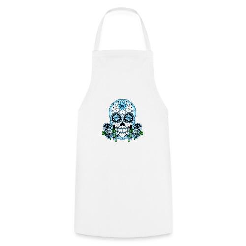 Blue Sugar Skull - Cooking Apron